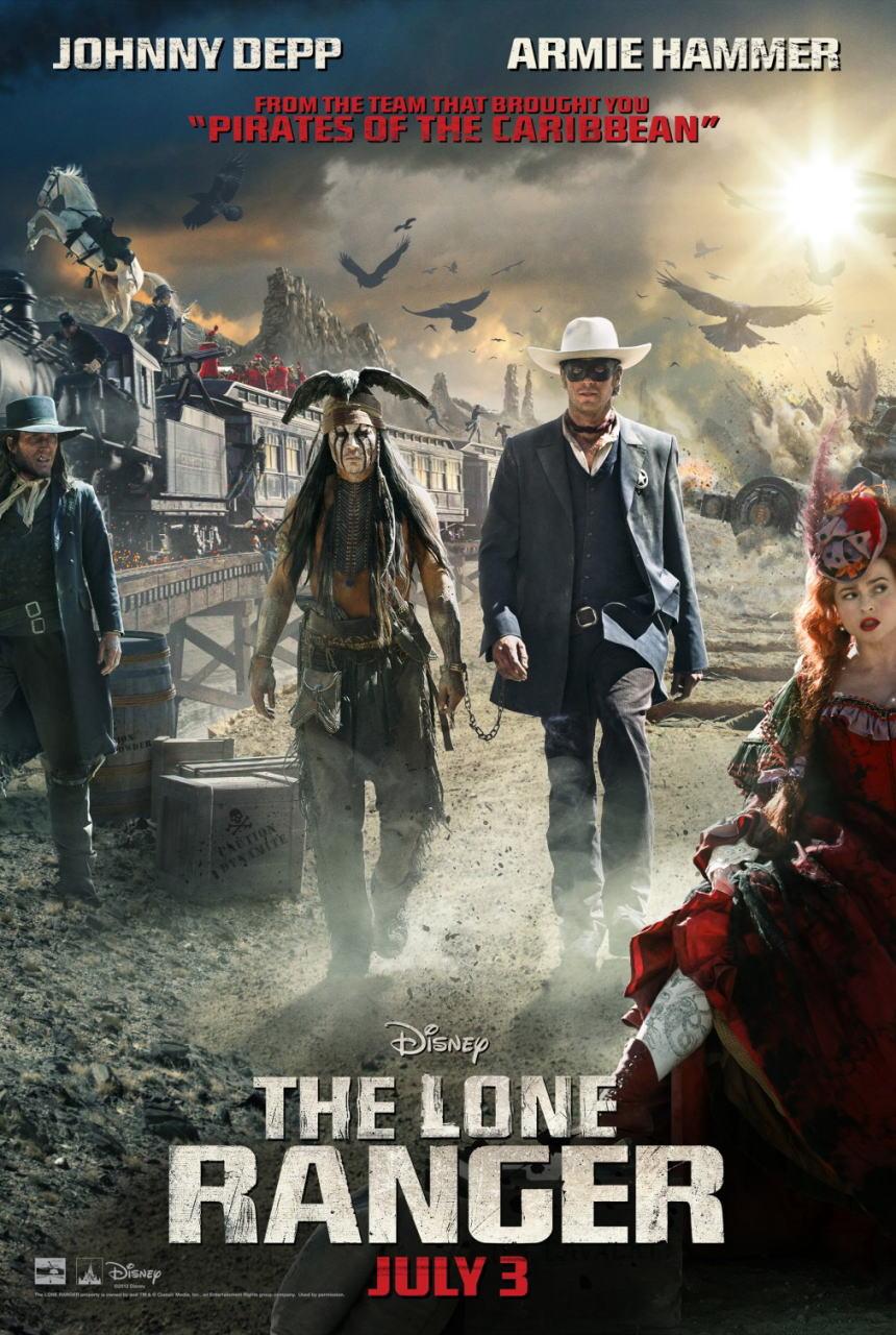 映画『ローン・レンジャー (2013) THE LONE RANGER』ポスター(1) ▼ポスター画像クリックで拡大します。