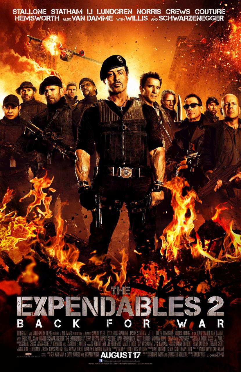 映画『エクスペンダブルズ2 PROMETHEUS』ポスター(1) ▼ポスター画像クリックで拡大します。