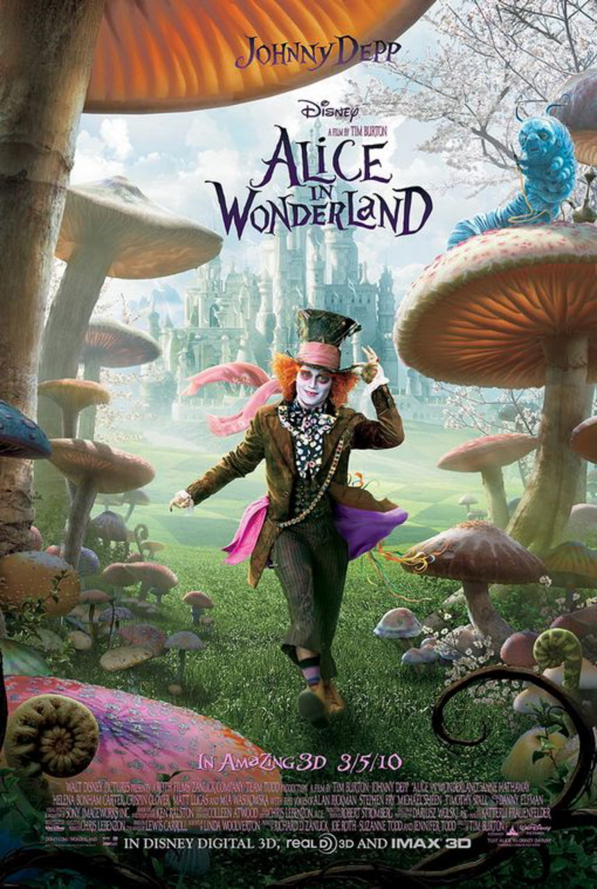 映画『アリス・イン・ワンダーランド ALICE IN WONDERLAND』ポスター(1)