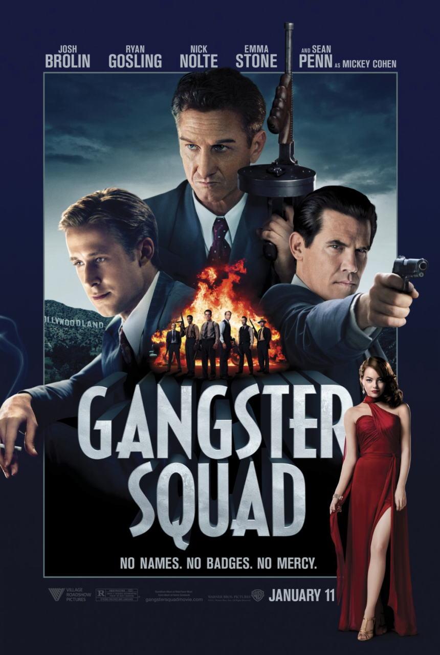 映画『L.A. ギャング ストーリー (2012) GANGSTER SQUAD』ポスター(1)▼ポスター画像クリックで拡大します。