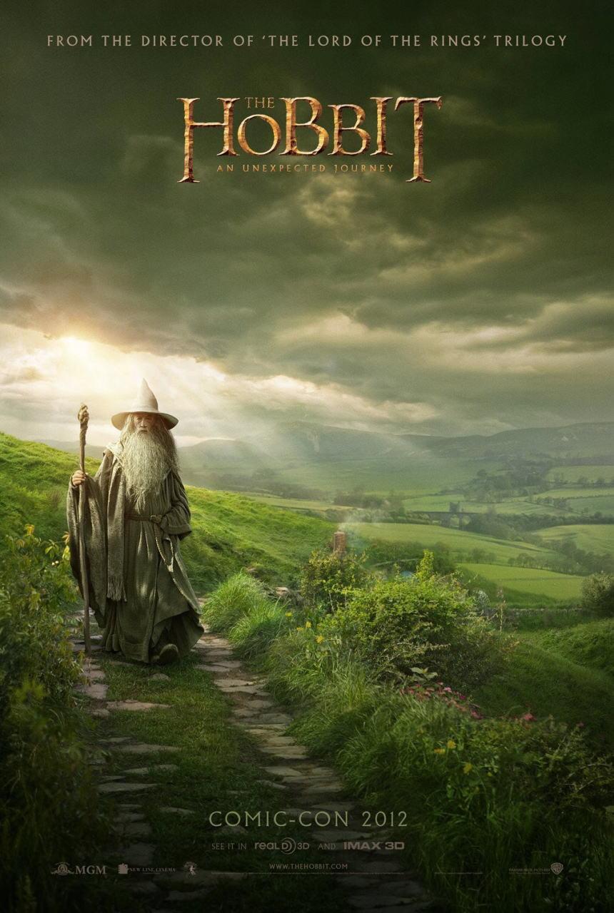 映画『ホビット 思いがけない冒険 THE HOBBIT: AN UNEXPECTED JOURNEY』ポスター(2) ▼ポスター画像クリックで拡大します。