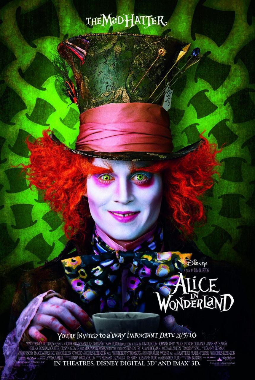 映画『アリス・イン・ワンダーランド ALICE IN WONDERLAND』ポスター(3)