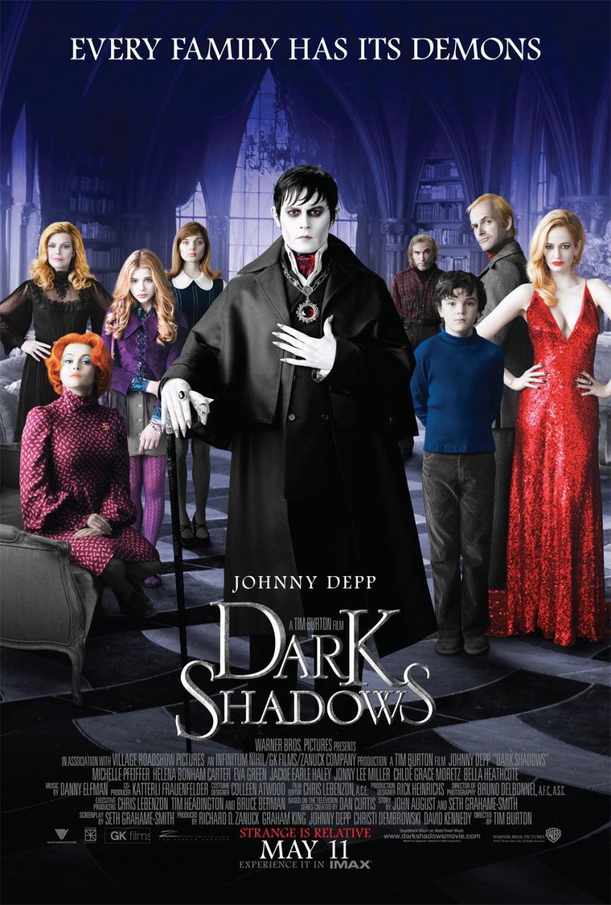 映画『ダーク・シャドウ DARK SHADOWS』ポスター(1)▼ポスター画像クリックで拡大します。