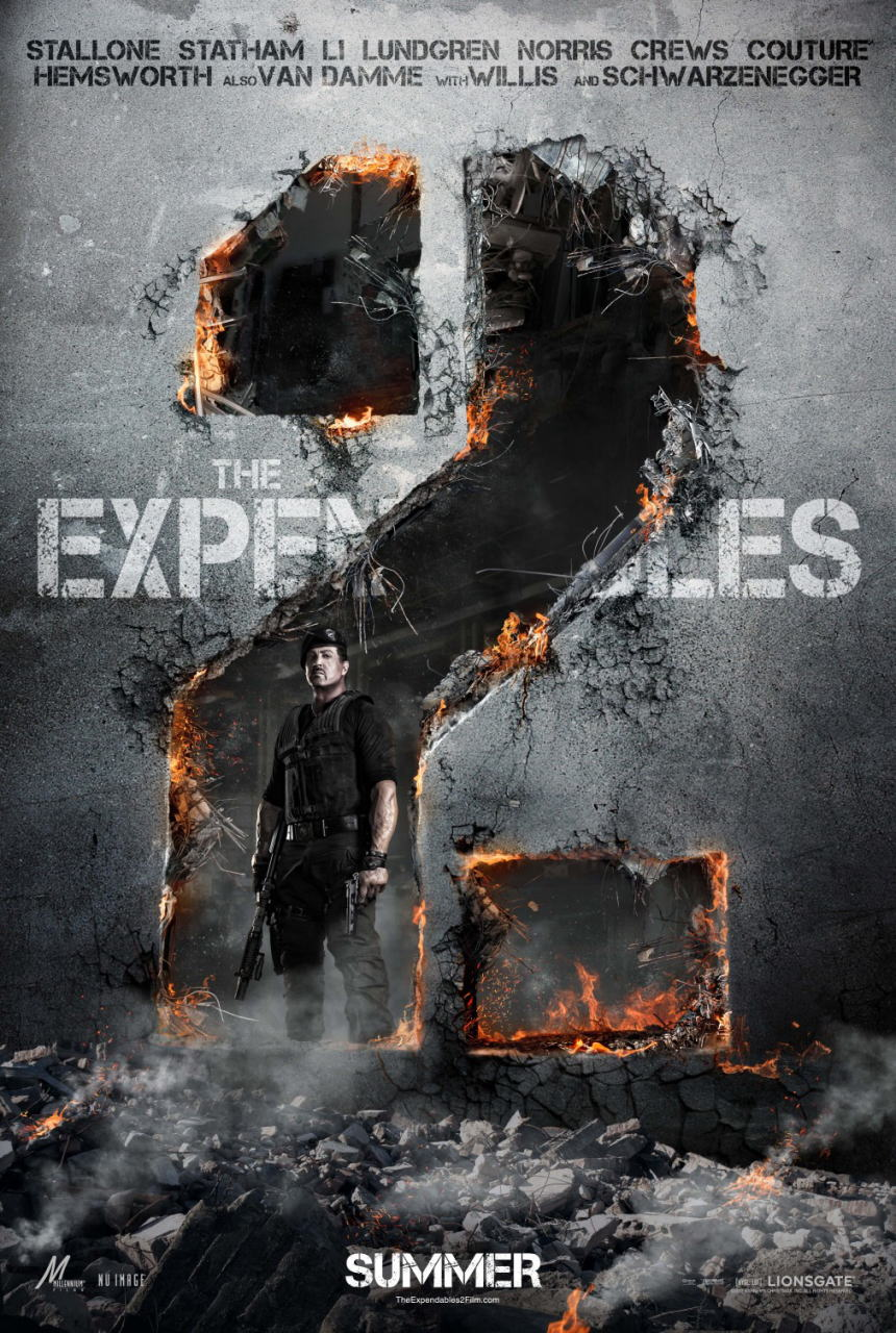 映画『エクスペンダブルズ2 PROMETHEUS』ポスター(2) ▼ポスター画像クリックで拡大します。