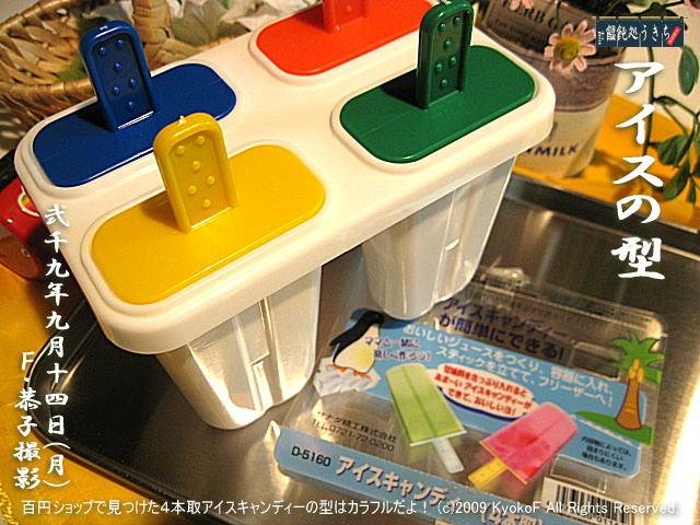 9/14(月)【アイスの型】百円ショップで見つけた4本取アイスキャンディーの型はカラフルだよ! @キャツピ&めん吉の【ぼろくそパパの独り言】     ▼クリックで元の画像が拡大します。