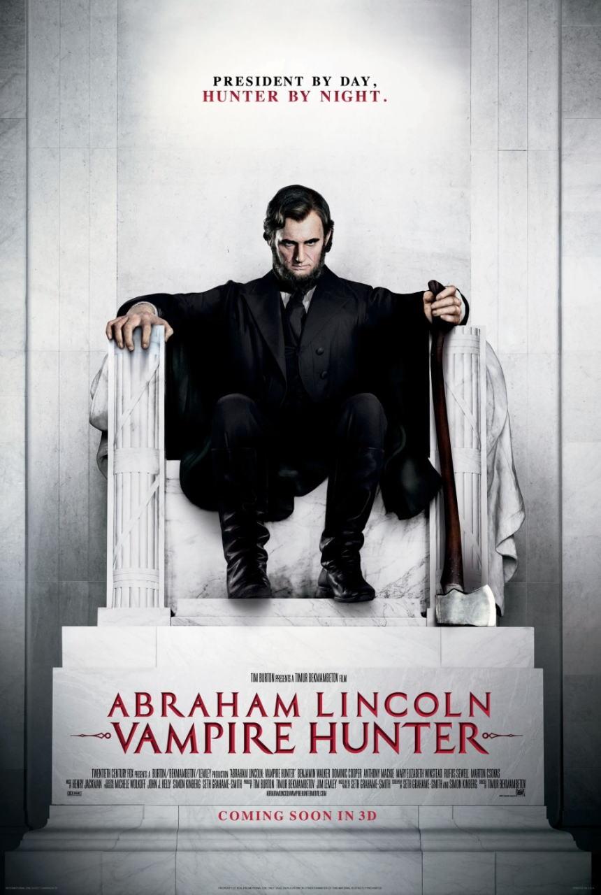 映画『リンカーン/秘密の書 ABRAHAM LINCOLN: VAMPIRE HUNTER』ポスター(3)▼ポスター画像クリックで拡大します。