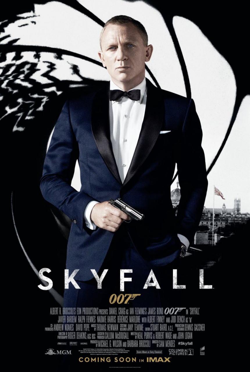 映画『007 スカイフォール SKYFALL』ポスター(2)▼ポスター画像クリックで拡大します。