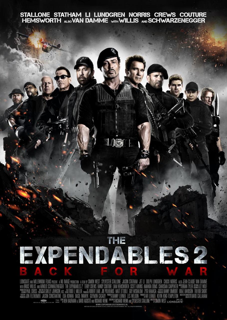 映画『エクスペンダブルズ2 PROMETHEUS』ポスター(4)▼ポスター画像クリックで拡大します。