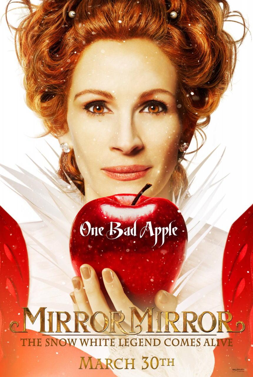 映画『白雪姫と鏡の女王 MIRROR MIRROR』ポスター(2) ▼ポスター画像クリックで拡大します。