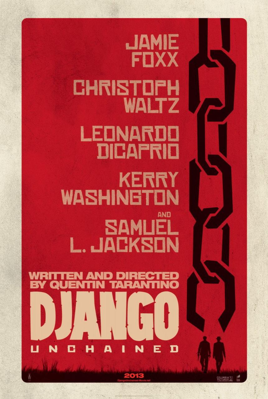 映画『ジャンゴ 繋がれざる者 (2012) DJANGO UNCHAINED』ポスター(1)▼ポスター画像クリックで拡大します。
