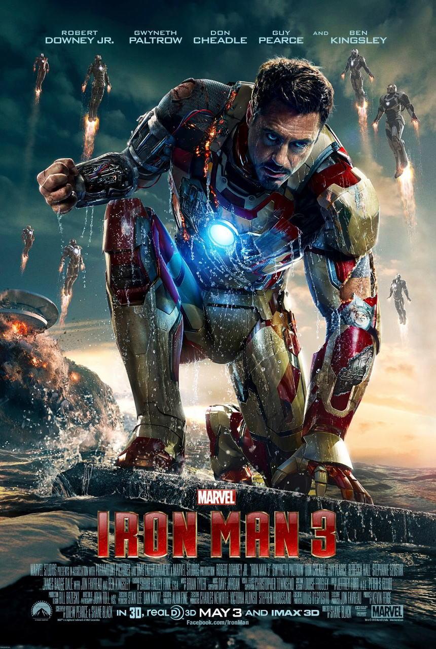 映画『アイアンマン3 (2013) IRON MAN 3』ポスター(1)▼ポスター画像クリックで拡大します。