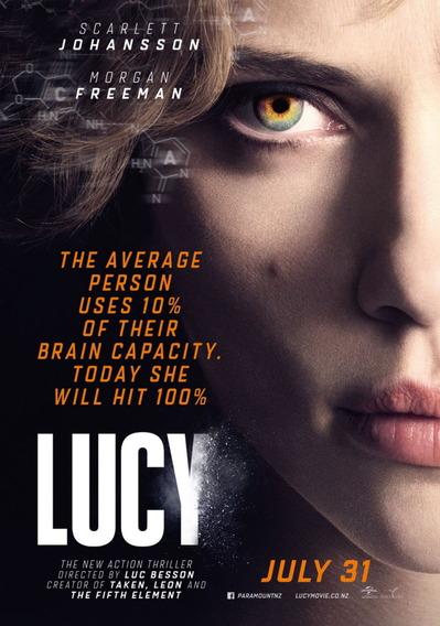 映画『LUCY/ルーシー (2014) LUCY』ポスター(2) ▼ポスター画像クリックで拡大します。