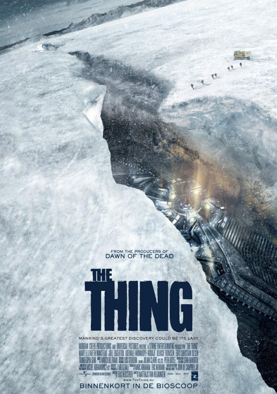 映画『遊星からの物体X ファーストコンタクト THE THING』ポスター(2)▼ポスター画像クリックで拡大します。