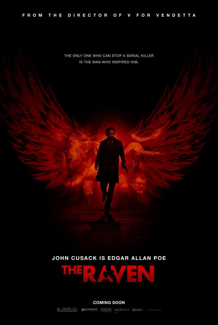 映画『推理作家ポー 最期の5日間 THE RAVEN』ポスター(1) ▼ポスター画像クリックで拡大します。