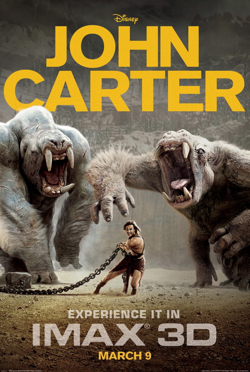 映画『ジョン・カーター JOHN CARTER』ポスター(3) ▼ポスター画像クリックで拡大します。
