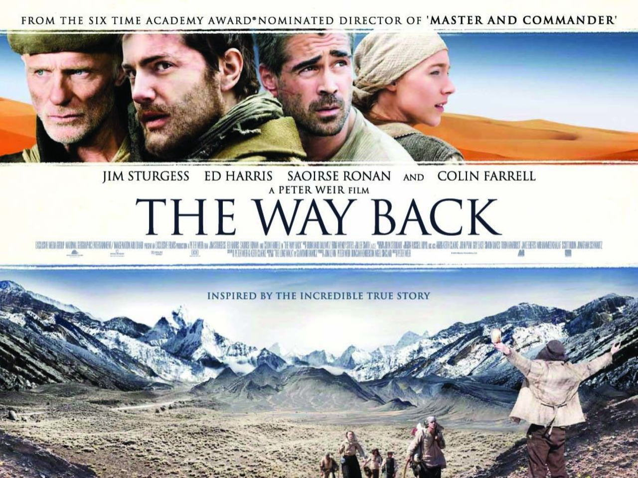 映画『ウェイバック-脱出6500km- THE WAY BACK』ポスター(5)▼ポスター画像クリックで拡大します。