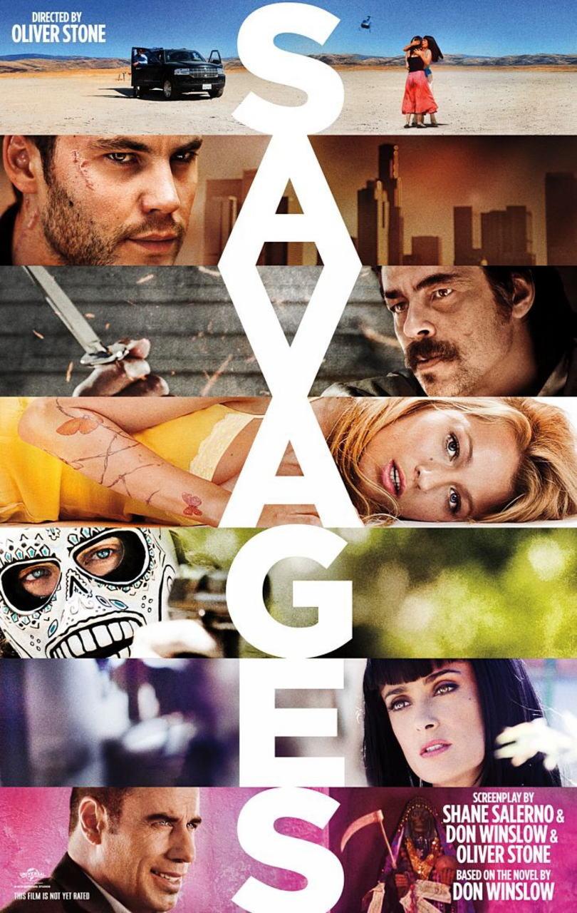 映画『野蛮なやつら/SAVAGES SAVAGES』ポスター(2) ▼ポスター画像クリックで拡大します。