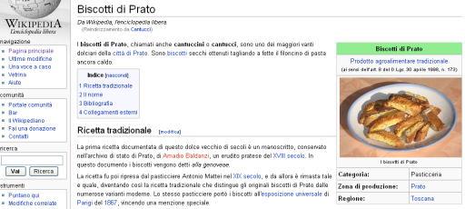 イタリアWikipediaのビスコッティ・ディ・プラト(プラート) Biscotti di Prato @幸田幸のパパ・キャツピ&めん吉の【ぼろくそパパの独り言】