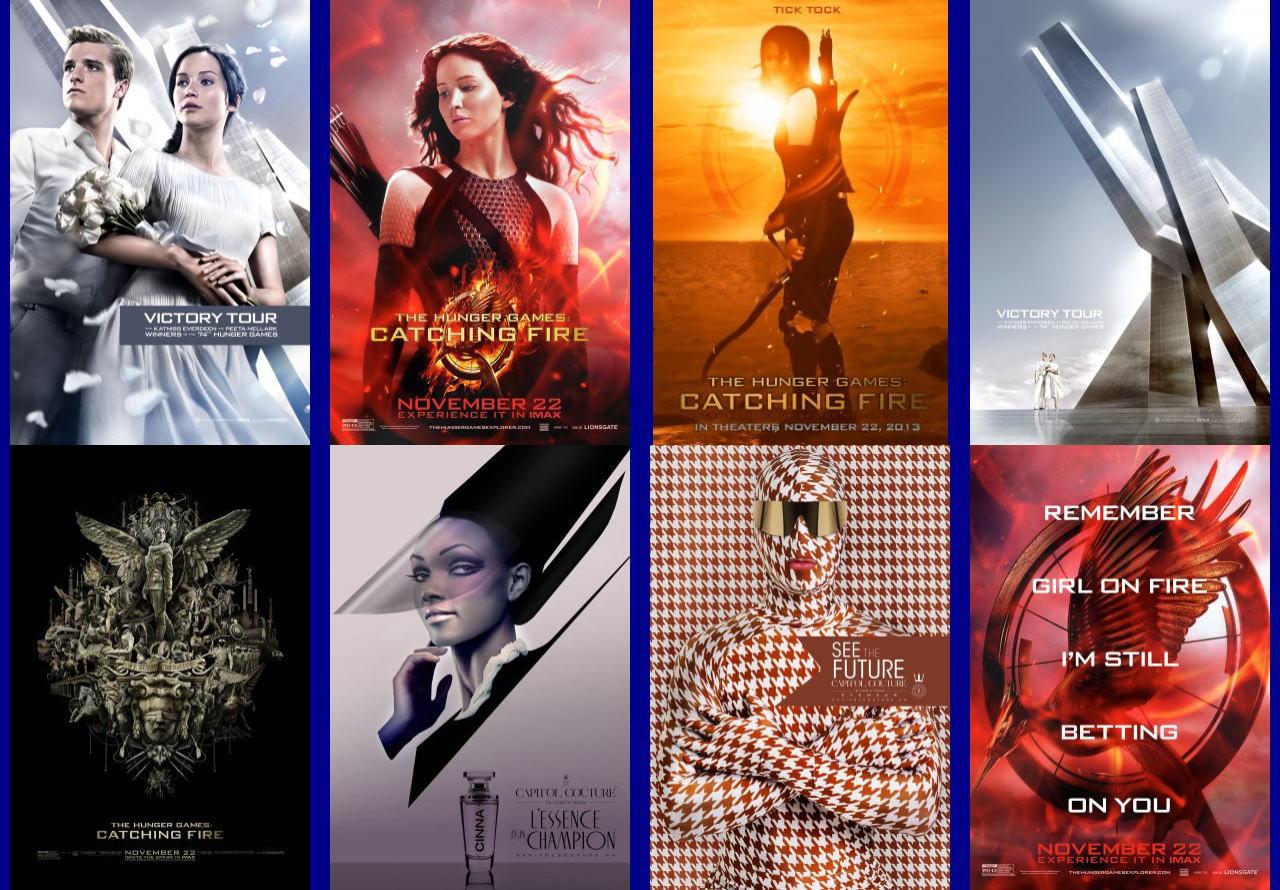 映画『ハンガー・ゲーム2 (2013) THE HUNGER GAMES: CATCHING FIRE』ポスター(4)▼ポスター画像クリックで拡大します。