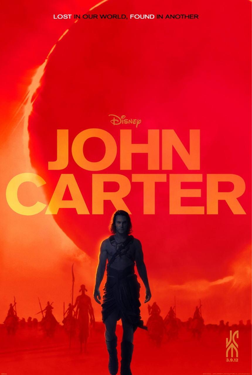 映画『ジョン・カーター JOHN CARTER』ポスター(1) ▼ポスター画像クリックで拡大します。