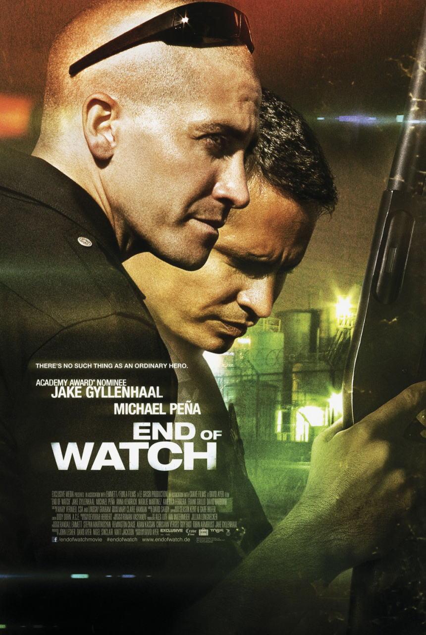 映画『エンド・オブ・ウォッチ END OF WATCH』ポスター(1) ▼ポスター画像クリックで拡大します。
