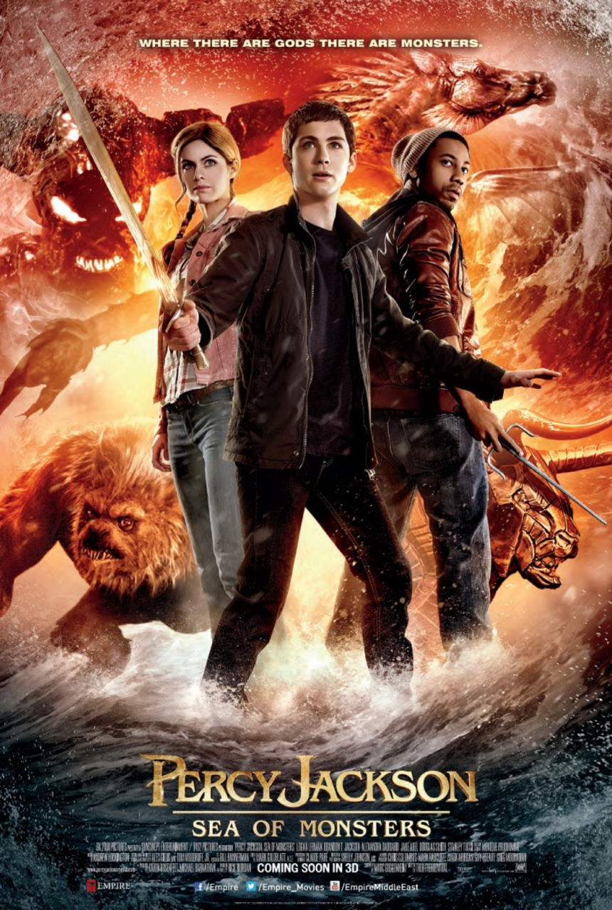 映画『パーシー・ジャクソンとオリンポスの神々:魔の海 (2013) PERCY JACKSON: SEA OF MONSTERS』ポスター(1) ▼ポスター画像クリックで拡大します。