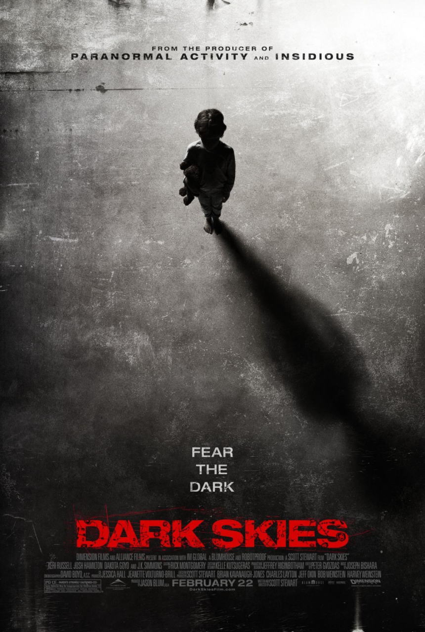 映画『ダークスカイズ (2013) DARK SKIES』ポスター(1)▼ポスター画像クリックで拡大します。