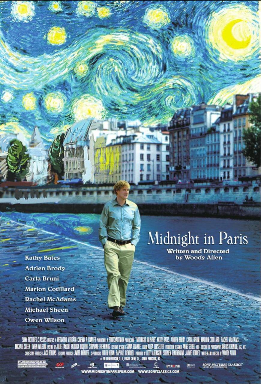 映画『ミッドナイト・イン・パリ MIDNIGHT IN PARIS』ポスター(1)▼ポスター画像クリックで拡大します。