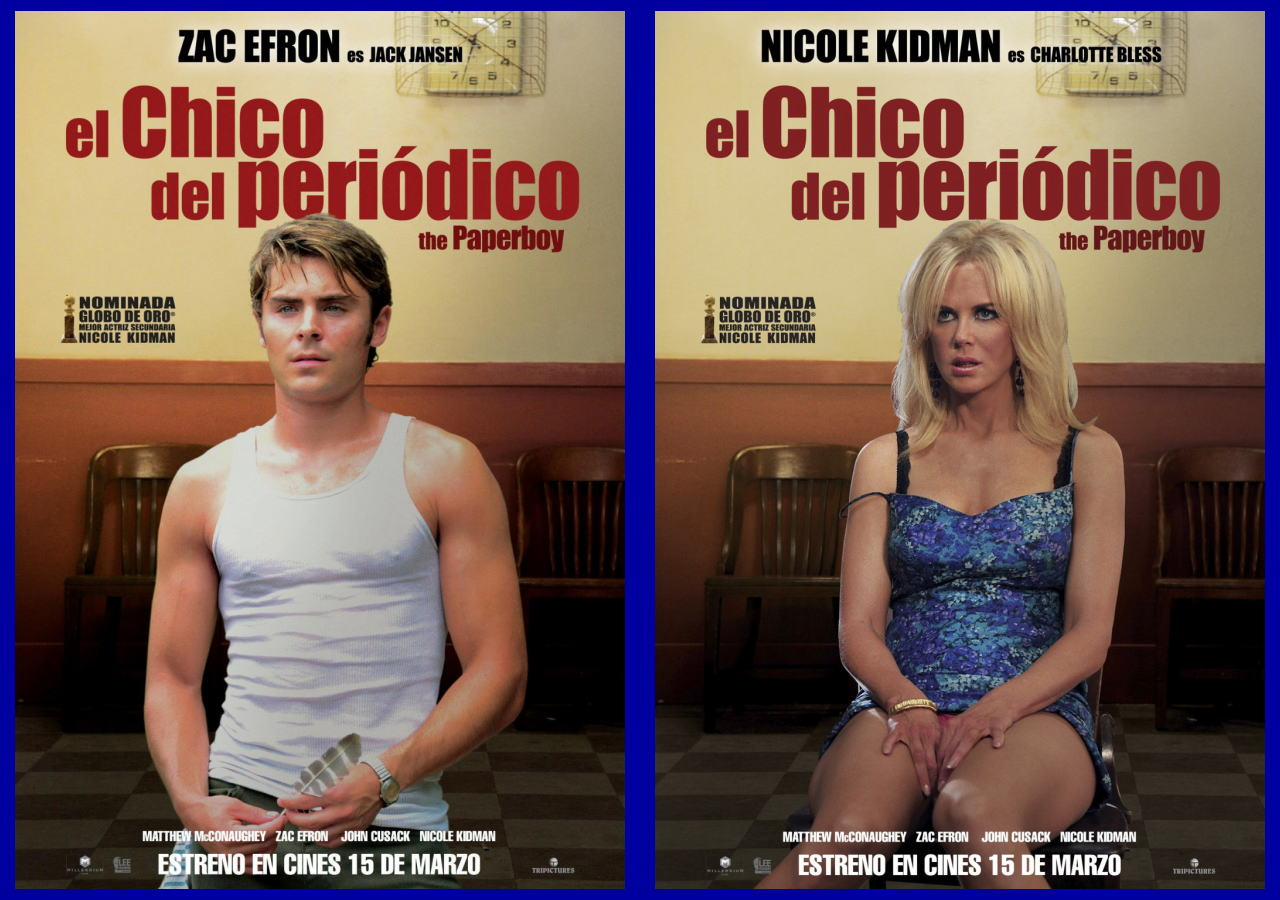 映画『ペーパーボーイ 真夏の引力 THE PAPERBOY』ポスター(4) ▼ポスター画像クリックで拡大します。