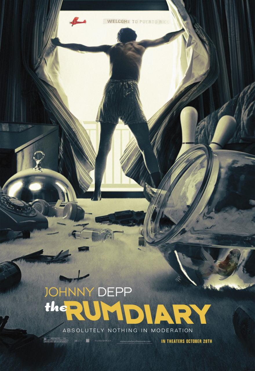 映画『ラム・ダイアリー THE RUM DIARY』ポスター(2) ▼ポスター画像クリックで拡大します。