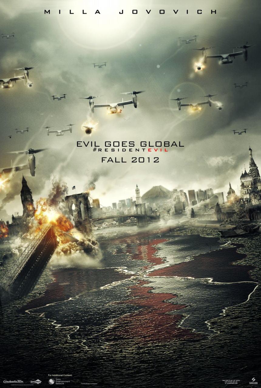 映画『バイオハザードV:リトリビューション RESIDENT EVIL: RETRIBUTION』ポスター(4) ▼ポスター画像クリックで拡大します。