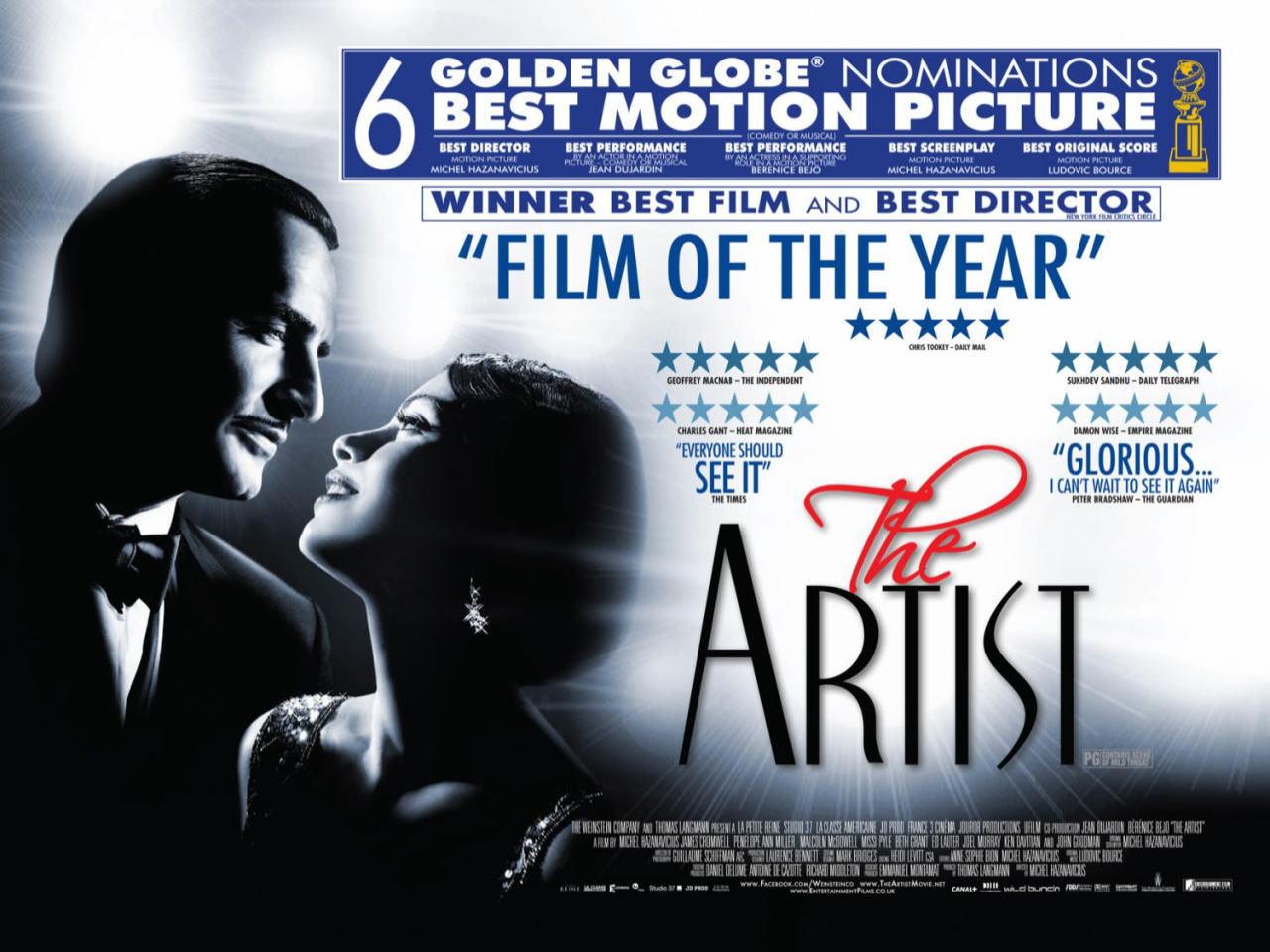 映画『アーティスト THE ARTIST』ポスター(1)▼ポスター画像クリックで拡大します。