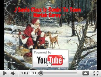 Mariah Carey『サンタが町にやって来る』@映像の森てんこ森YouTubeへ