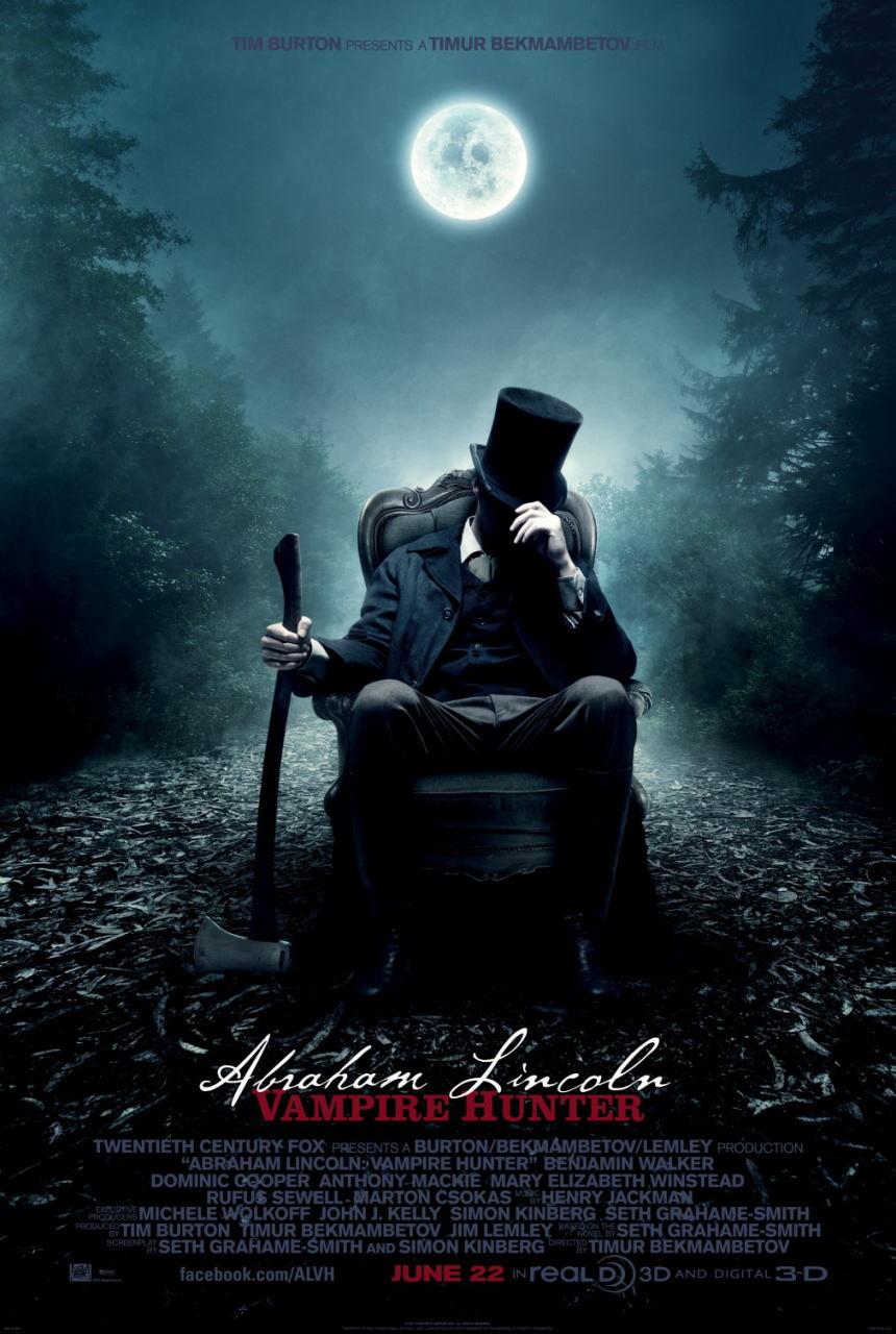 映画『リンカーン/秘密の書 ABRAHAM LINCOLN: VAMPIRE HUNTER』ポスター(2)▼ポスター画像クリックで拡大します。