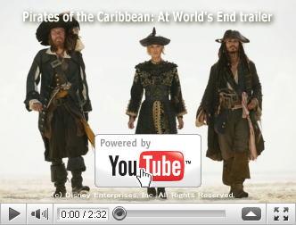 ※クリックでYouTube『パイレーツ・オブ・カリビアン/ワールド・エンド PIRATES OF THE CARIBBEAN: AT WORLD'S END』予告編へ