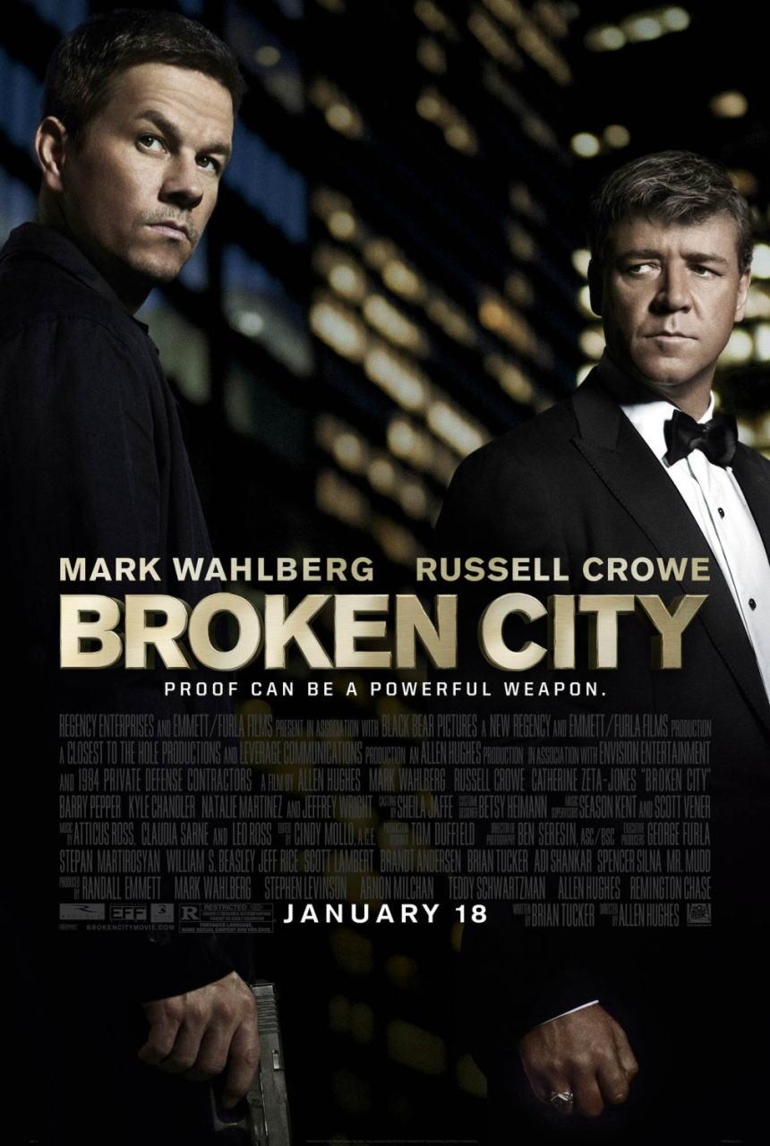 映画『ブロークンシティ (2012) BROKEN CITY』ポスター(1)▼ポスター画像クリックで拡大します。