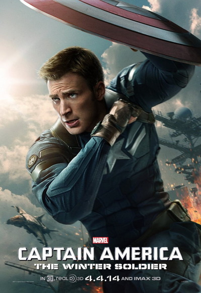 映画『キャプテン・アメリカ/ウィンター・ソルジャー (2014) CAPTAIN AMERICA: THE WINTER SOLDIER』ポスター(2) ▼ポスター画像クリックで拡大します。