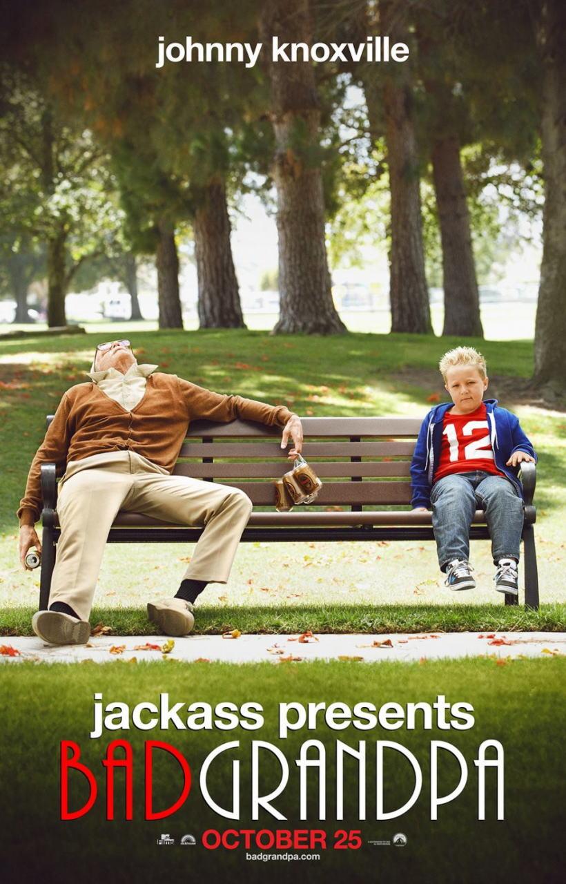 映画『ジャッカス/クソジジイのアメリカ横断チン道中 (2013) JACKASS PRESENTS: BAD GRANDPA』ポスター(2)▼ポスター画像クリックで拡大します。