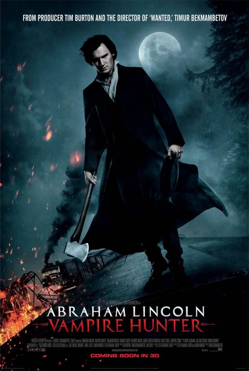 映画『リンカーン/秘密の書 ABRAHAM LINCOLN: VAMPIRE HUNTER』ポスター(1)▼ポスター画像クリックで拡大します。