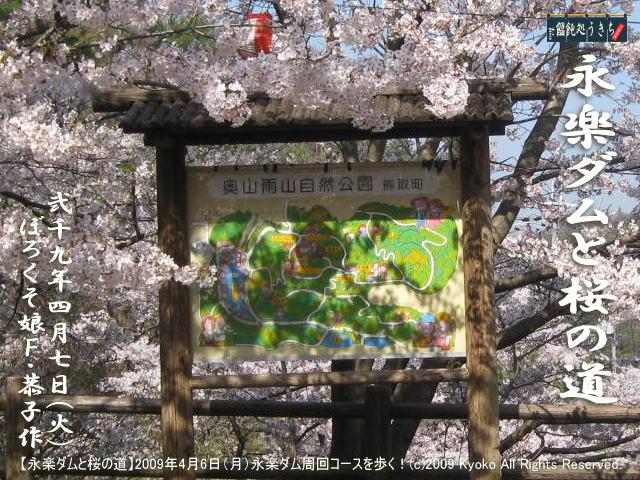 4/8(水)【永楽ダムと桜の道】2009年4月6日(月)F・恭子、永楽ダム周回コースを歩く!@キャツピ&めん吉の【ぼろくそパパの独り言】    ▼クリックで1280x960pxlsに拡大します。