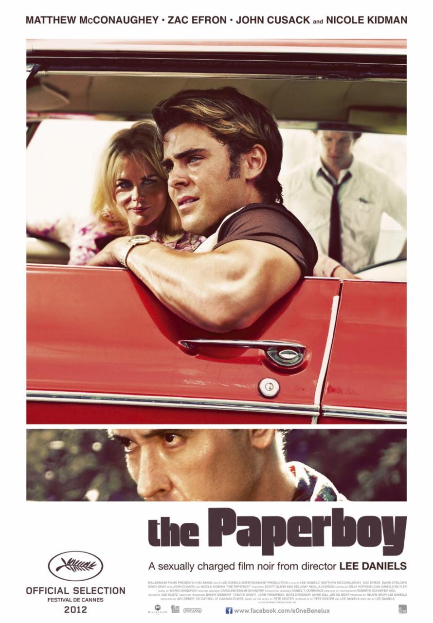 映画『ペーパーボーイ 真夏の引力 THE PAPERBOY』ポスター(1)▼ポスター画像クリックで拡大します。