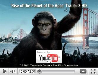 ※クリックでYouTube『猿の惑星:創世記(ジェネシス) RISE OF THE PLANET OF THE APES』予告編へ
