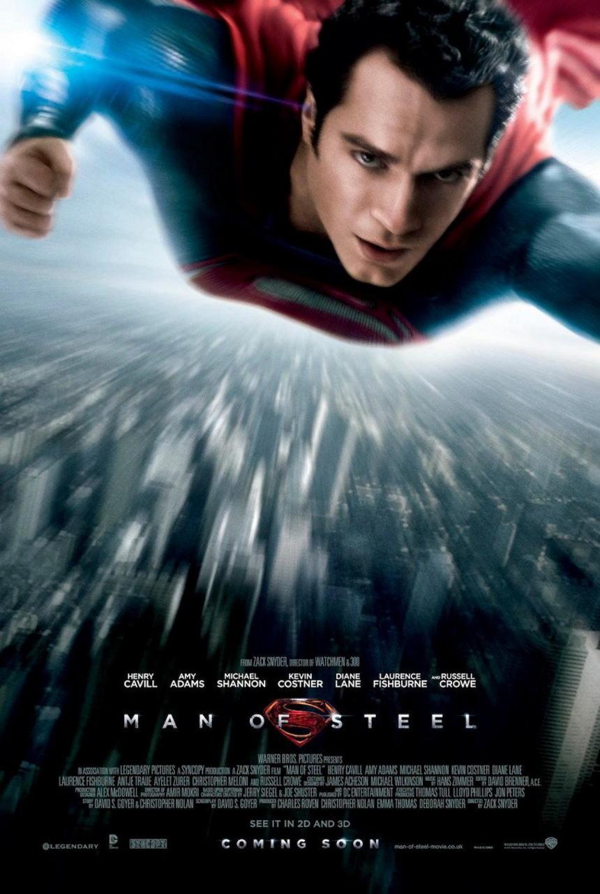 映画『マン・オブ・スティール (2013) MAN OF STEEL』ポスター(1) ▼ポスター画像クリックで拡大します。