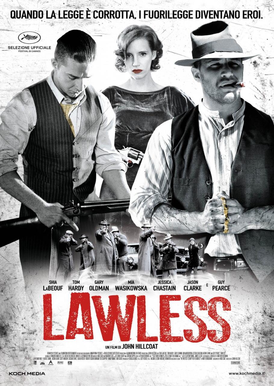 映画『欲望のバージニア (2012) LAWLESS』ポスター(1)▼ポスター画像クリックで拡大します。