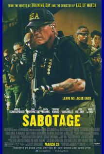 映画『 サボタージュ (2014) SABOTAGE 』ポスター