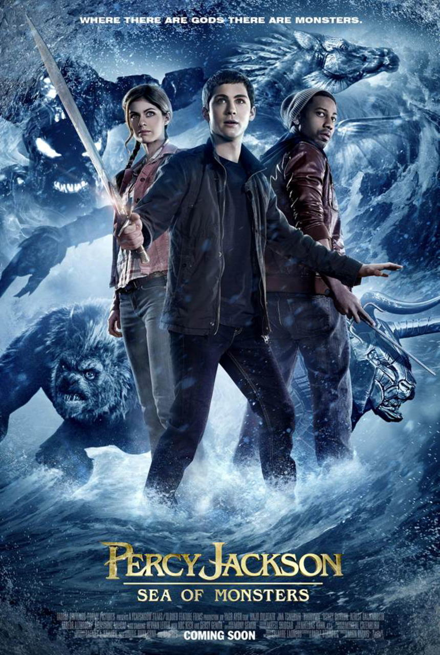 映画『パーシー・ジャクソンとオリンポスの神々:魔の海 (2013) PERCY JACKSON: SEA OF MONSTERS』ポスター(2) ▼ポスター画像クリックで拡大します。