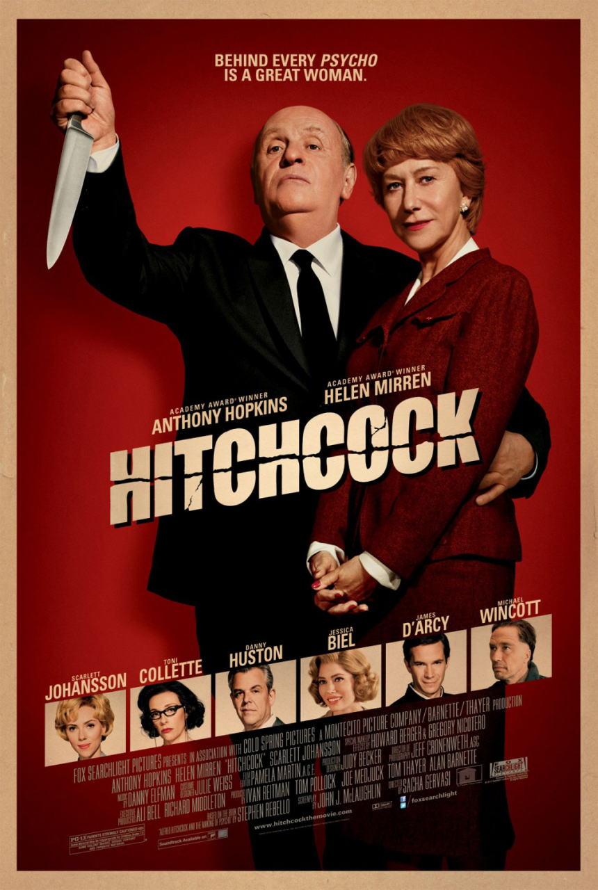 映画『ヒッチコック HITCHCOCK』ポスター(1)▼ポスター画像クリックで拡大します。