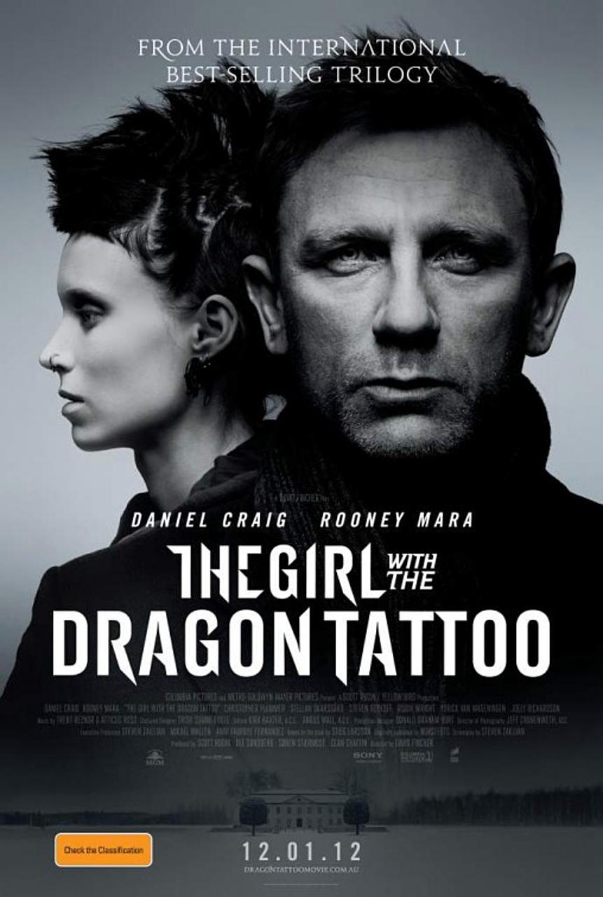 映画『ドラゴン・タトゥーの女 THE GIRL WITH THE DRAGON TATTOO』ポスター(3)