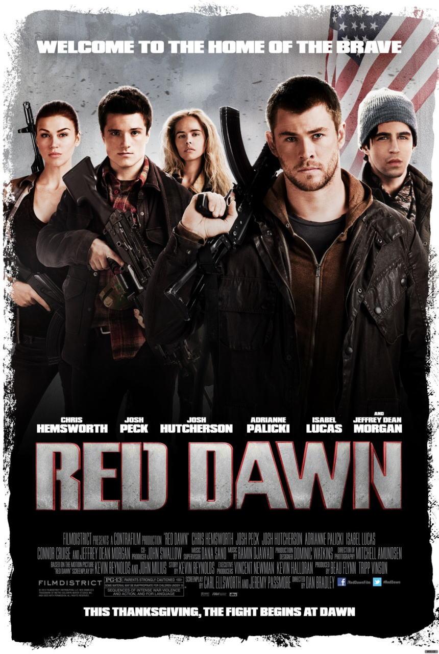 映画『レッド・ドーン (2012) RED DAWN』ポスター(1) ▼ポスター画像クリックで拡大します。