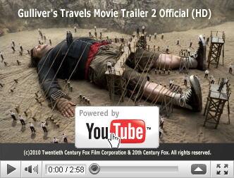 ※クリックでYouTube『ガリバー旅行記 GULLIVER'S TRAVELS』予告編へ